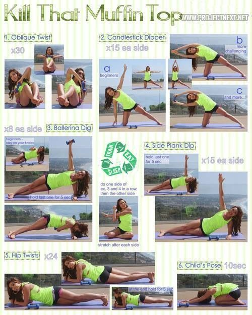 Muffin top exercises!