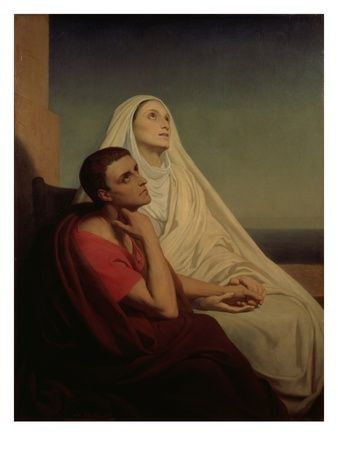 The story of how Saint Monica prayed for the conversion of her wayward son, Saint Augustine. Click on the image to read the article.: