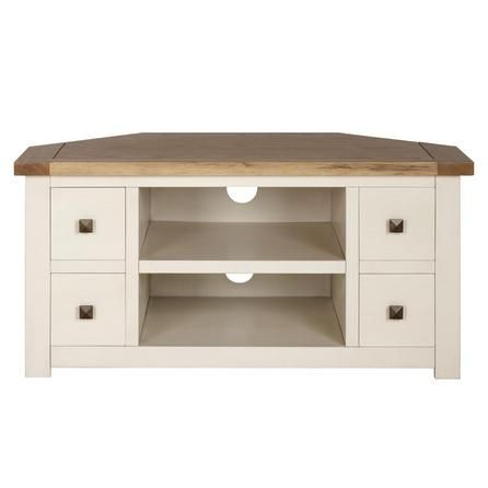 Henley Cream Corner TV Unit | Dunelm