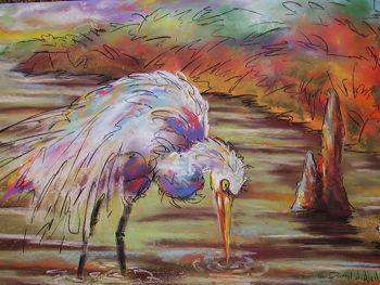 """Dipper"" an original pastel painting by Darryl d. Alello"