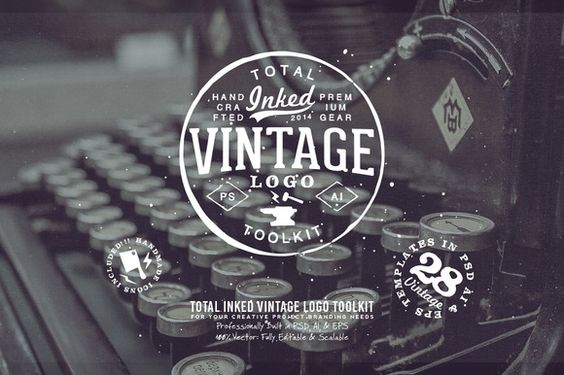 Total Inked Vintage Logo Toolkit by Yusof Mining on Creative Market