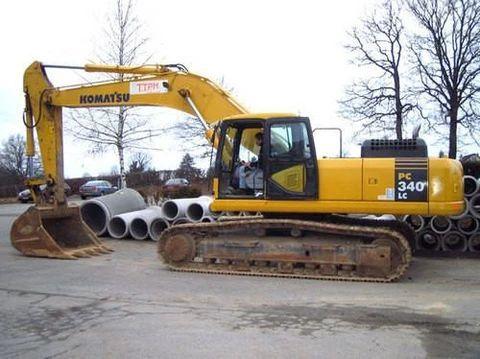 Komatsu Pc340 6k Pc340lc 6k Pc340nlc 6k Hydraulic Excavator