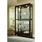 $1209.00  PULASKI Furniture - Chocolate Cherry Two Way Sliding Door Curio - 20661