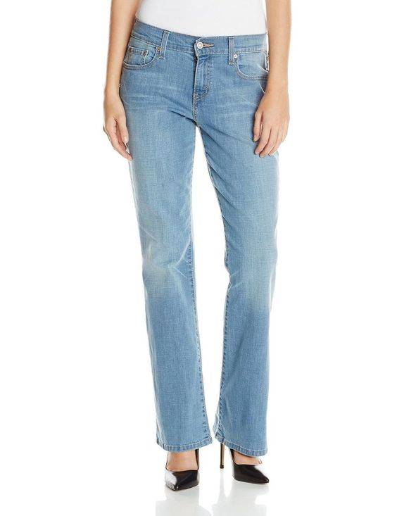 Details about Levi's 515 women's bootcut jeans light wash cotton ...