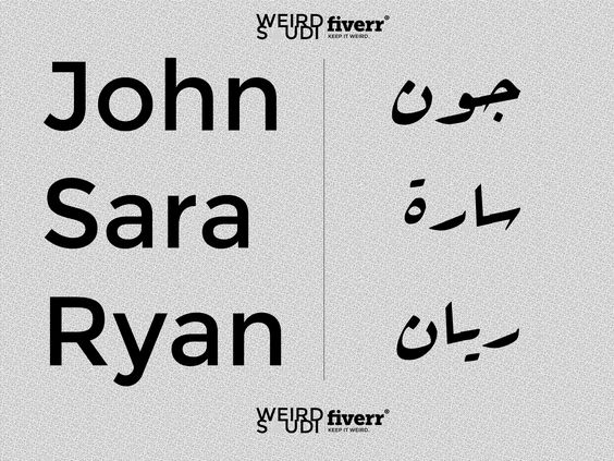 I will write your name in Arabic for $5
