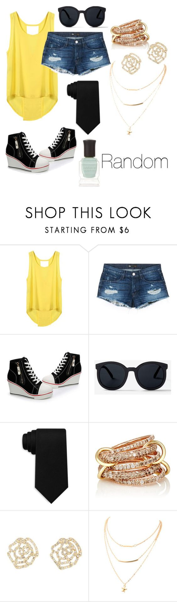 """""""Random 😝"""" by hopelessromance69 ❤ liked on Polyvore featuring 3x1, Tommy Hilfiger, SPINELLI KILCOLLIN, Charlotte Russe and Deborah Lippmann"""