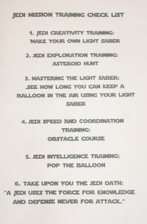 Jedi Mission Training Checklist