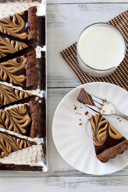 chocolate peanut butter tart by annieseats