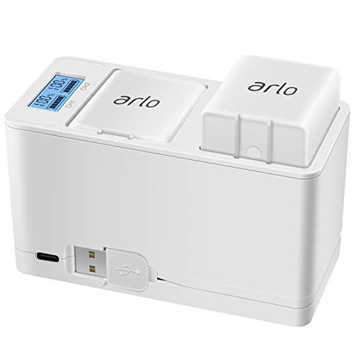 Charging Station For Arlo Pro And Arlo Pro 2 And GO Rechargeable Batteries White