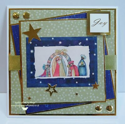 Using topper and papers from an old edition of Making Cards
