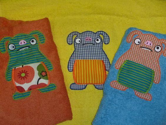 Monster-Handtücher mit Geheimversteck