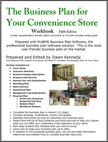 convenience store business plan pdf