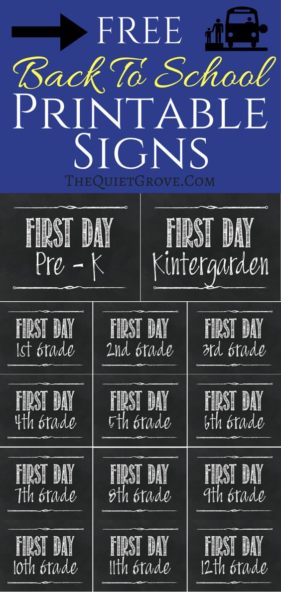 Fabulous image within printable back to school signs