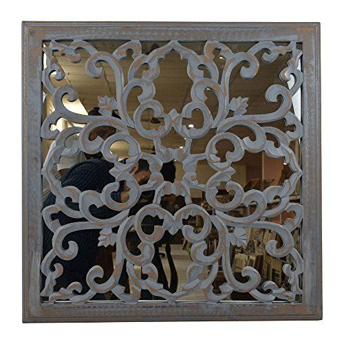 Indian Heritage Wooden Wall Panel Mdf Mirror With Carved Woodart Wood Woodworking Art Handmade Wooden Wall Panels Wall Paneling Starburst Wall Decor