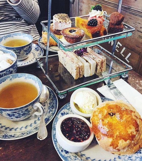 Afternoon tea at the Blackbird Tearoom - Brighton, England