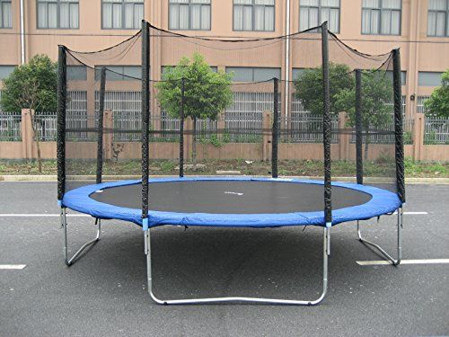Exacme S15 Trampoline with Enclosure Net & Ladder All-in-One Combo ...