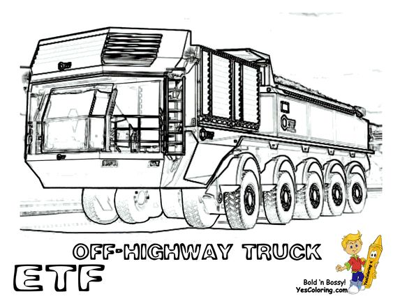 trucks and trains coloring pages-#12