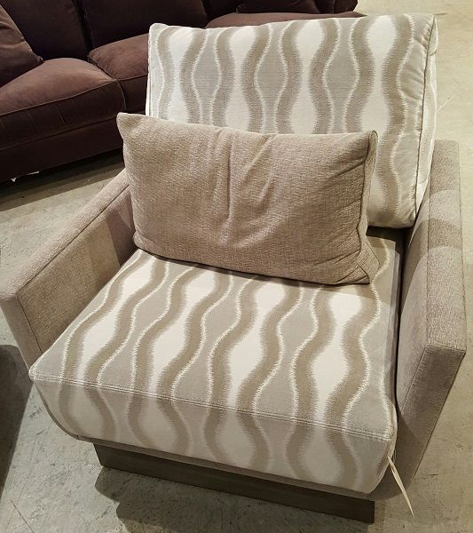 JC139 Chair By Burton James  Trek Bongo Cement Fabric @ Heritage Furniture  Outlet