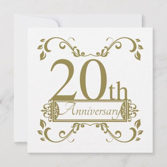 20th Wedding Anniversary Card Zazzle Com In 2021 Wedding Anniversary Cards 20 Wedding Anniversary Anniversary Cards