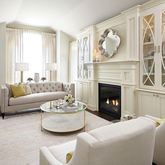 Sarah Check Hearth Cabinet: Gorgeous Built In Cabinets Flanking The Fireplace
