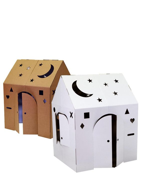 Speelgoed dat je kan maken met karton dozen - huisje