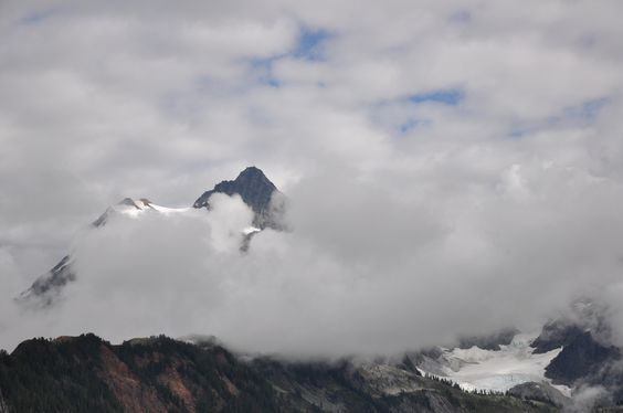 Mt. Baker in the clouds