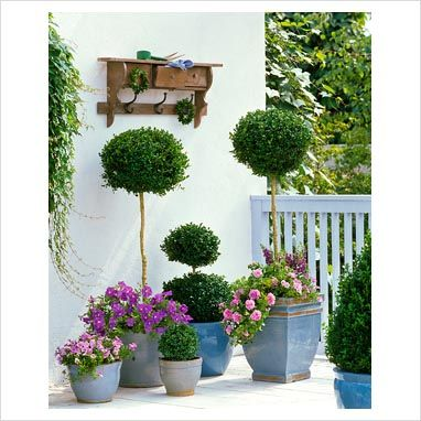 Azul vital decoraci n de jardines peque os macetas - Adornos para jardines pequenos ...