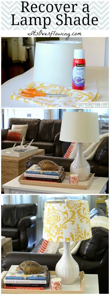 $5 Lamp Shade Makeover. I have 3 lamp shades that I was about to throw away! Good thing I saw this pin first!