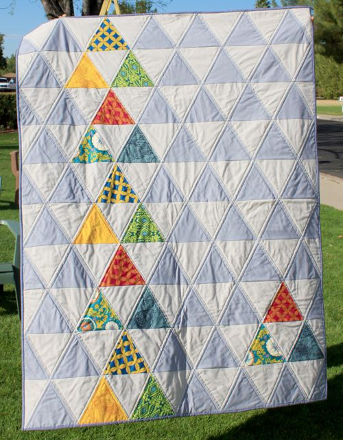 Cute large-scale HST quilt from Rachel + Co.