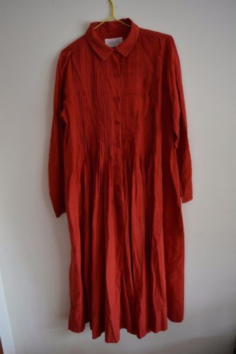 Khadi-and-Co-Bess-Nielsen-Hand-Woven-100-Indian-Cotton-Tunic-Dress-Size-L-RRP