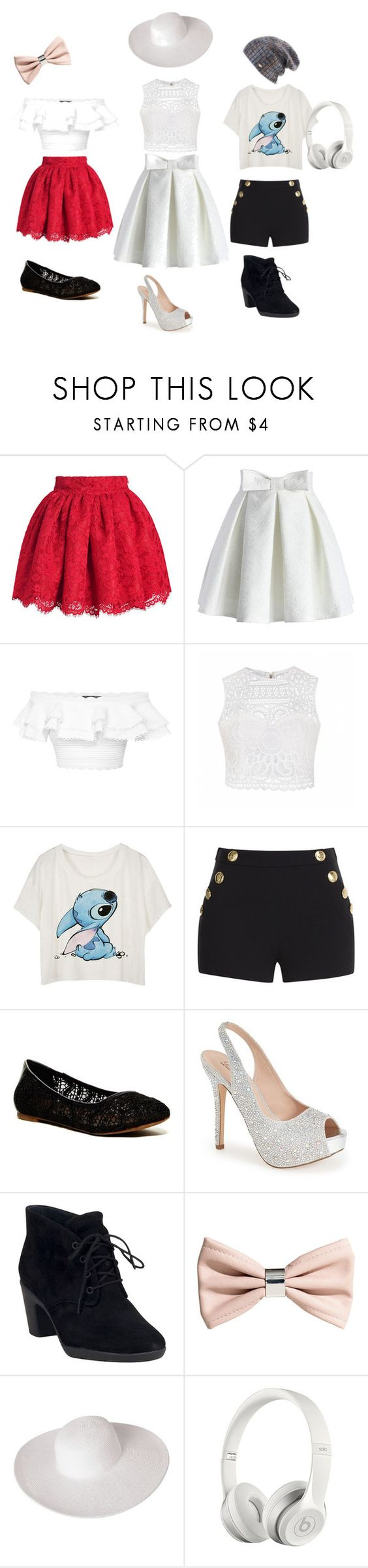 """""""Girly/Classy/And ME"""" by pinklovebooks ❤ liked on Polyvore featuring Chicwish, Alexander McQueen, Ally Fashion, Boutique Moschino, Lucky Brand, Lauren Lorraine, Clarks, H&M, Dorfman Pacific and Spacecraft"""