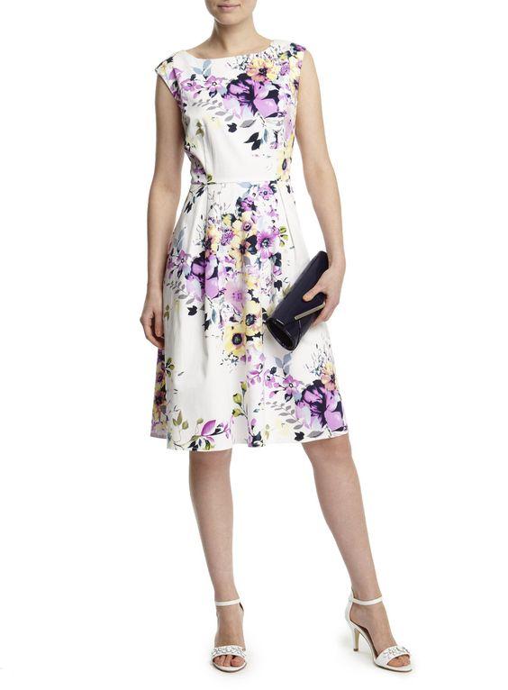 Ivory Multi Floral Soft Prom Dress - BHS