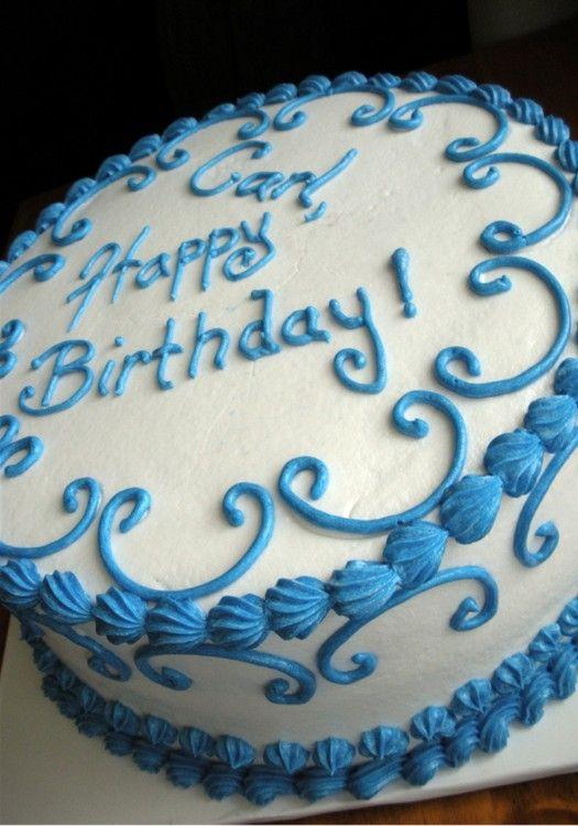 Happy Birthday Sheet Cake By Stephanie Dillon LS HyVee Bakery - Blue cake birthday