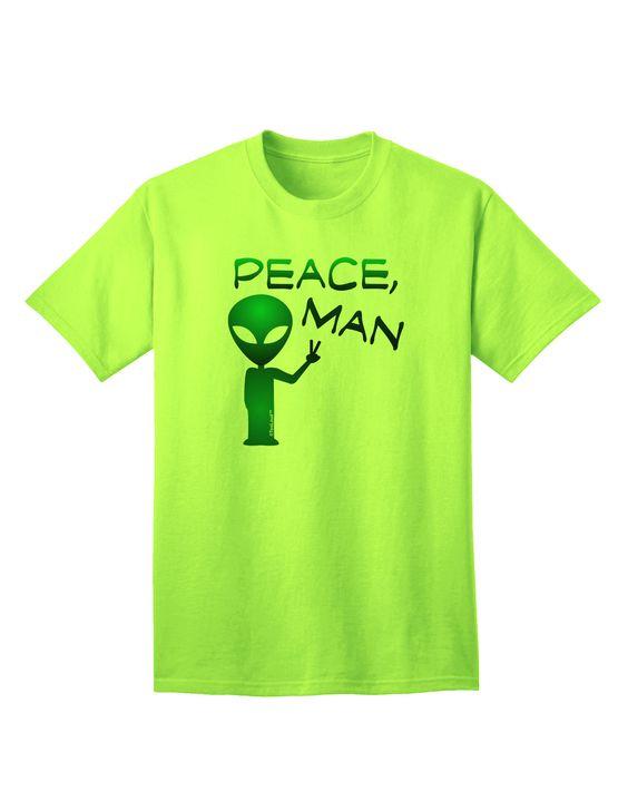 TooLoud Peace Man Alien Adult T-Shirt