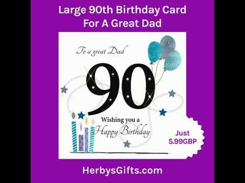 Large 90th Birthday Card For A Great Dad A Fab New 90th Card For A Dad Design By Rush Design Features 90th Birthday Cards 90th Birthday Birthday Cards