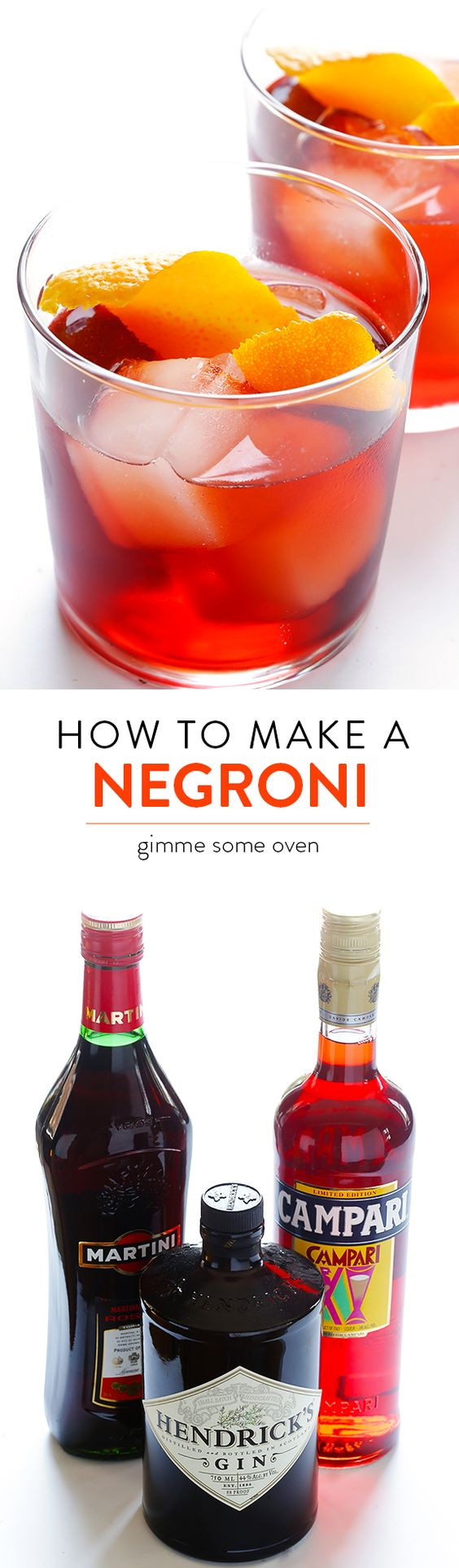 Learn how to make a classic Negroni cocktail with just 4 ingredients | gimmesomeoven.com