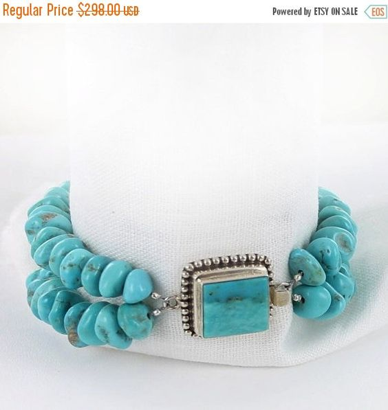 Jewelry Clearance Kingman Turquoise Bracelet by NewWorldGems