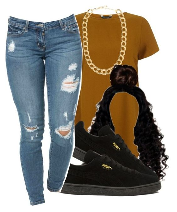 """""""#schoolfit"""" by eazybreezy305 ❤ liked on Polyvore featuring BaubleBar, Puma, schoolflow, schoolstyle and bts"""