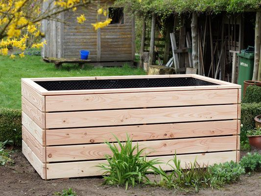Hochbeet Nach Mass Heimisches Holz Douglasie Inklusive Pflanzfolie Hochbeet Holz Hochbeet Garten Hochbeet