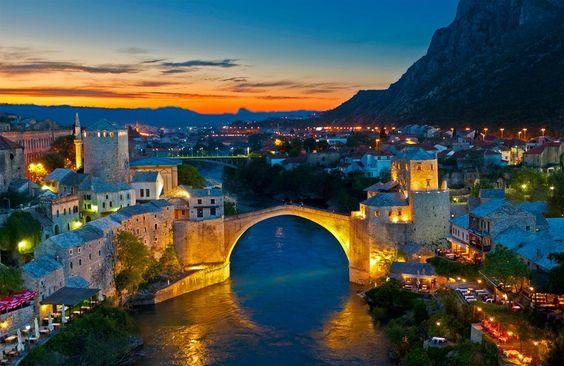 Moon Bridge in Mostar, Bosnia and Herzegovina