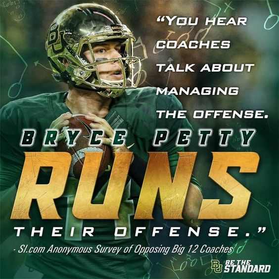 The leader of #AmericasTopOffense. // #SicEm #Baylor