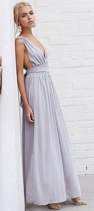 Grey Maxi Dress                                                                             Source