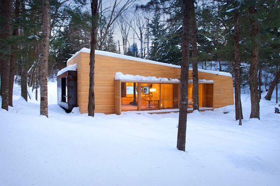 DE LUNARES Y NARANJAS: Miércoles de arquitectura: una casa en la nieve