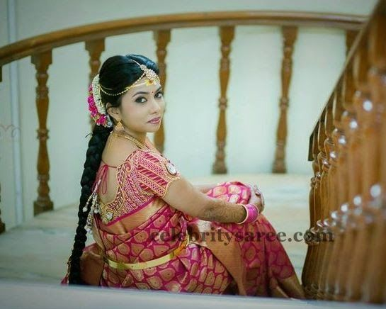 Bride With Heavy Wedding Blouse