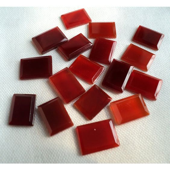 Red Onyx   AAA Rectangular Shaped Red Onyx Slices by gemsforjewels, $22.20