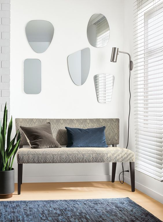 Brighten up a room with our Gaze mirrors, in a range of shapes designed to complement one another. Place one in a small space or group them to create a gallery wall: