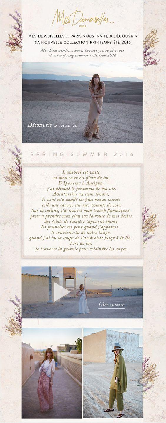 Mes Demoiselles... Paris: Nouvelle collection Printemps Eté 2016 / Spring Summer 16 Collection