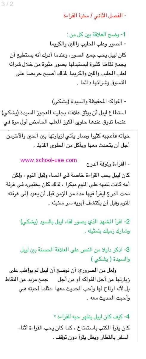 حل رواية احلام ليبل السعيدة لغة عربية للصف السادس الفصل الثالث 2020الامارات Labels Math Bullet Journal