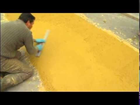 ▶ Béton coloré : une cour d'école réalisée en béton décoratif - YouTube