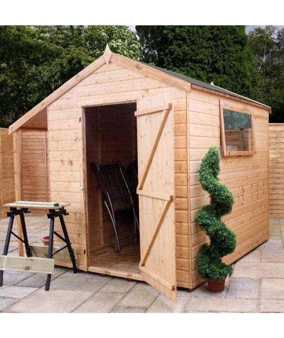 Buy Mercia Shiplap (Apex) Wooden Combi Storage - 8 x 8ft at Argos.co.uk - Your Online Shop for Sheds.